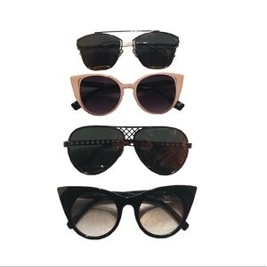 Curated fashion sunglasses Lot